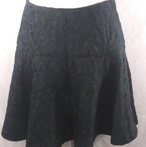 Free people black skater skirt loose pleats size 4
